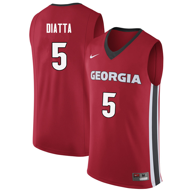Men #5 Pape Diatta Georgia Bulldogs College Basketball Jerseys Sale-Red