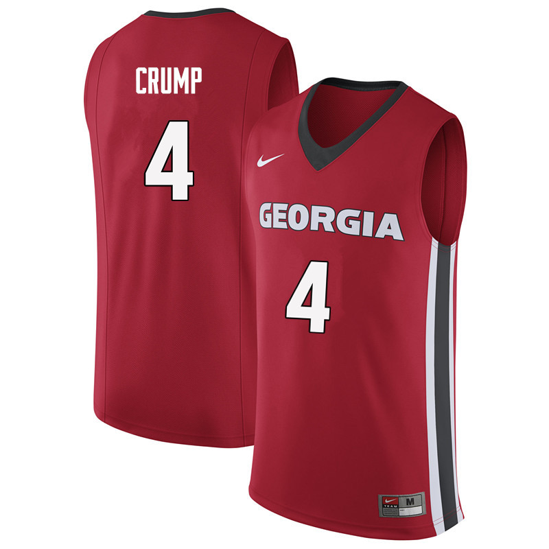 Men #4 Tyree Crump Georgia Bulldogs College Basketball Jerseys Sale-Red