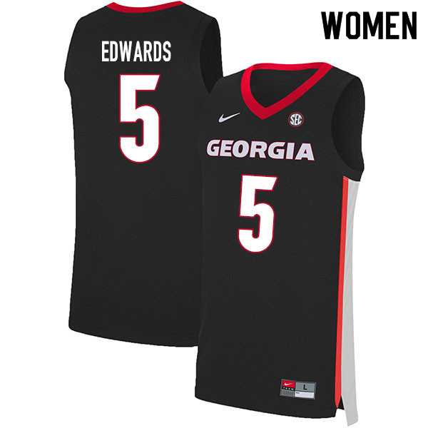 2020 Women #5 Anthony Edwards Georgia Bulldogs College Basketball Jerseys Sale-Black