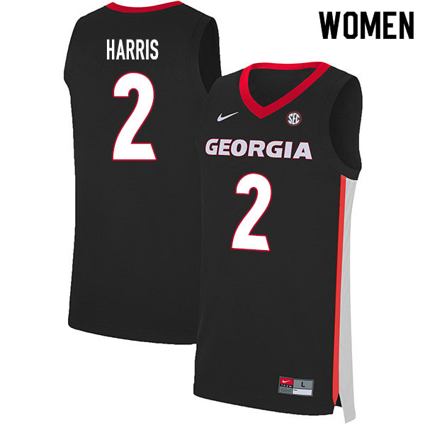 2020 Women #2 Jordan Harris Georgia Bulldogs College Basketball Jerseys Sale-Black