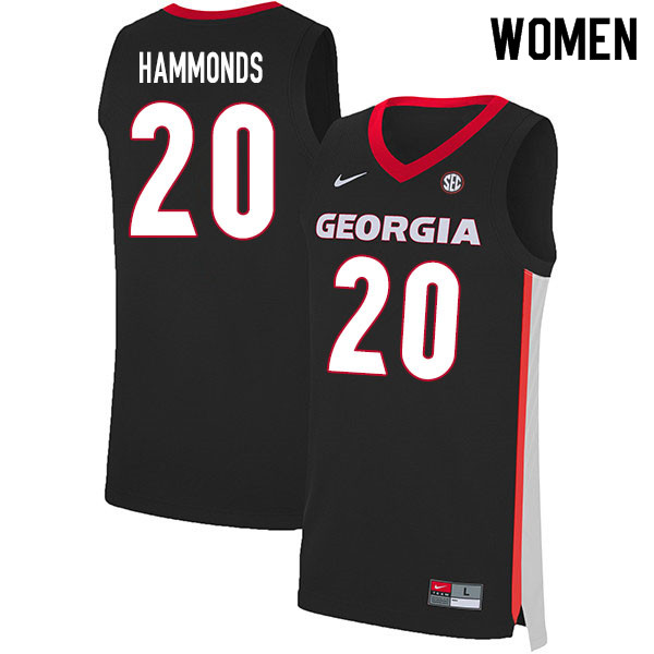 2020 Women #20 Rayshaun Hammonds Georgia Bulldogs College Basketball Jerseys Sale-Black