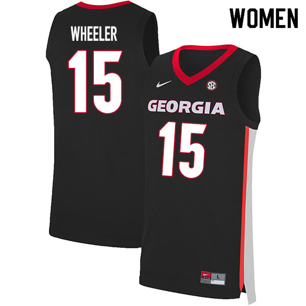 2020 Women #15 Sahvir Wheeler Georgia Bulldogs College Basketball Jerseys Sale-Black