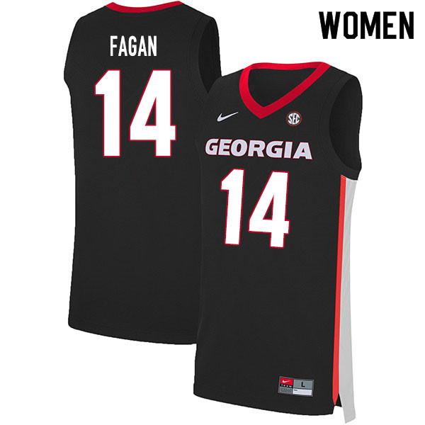 2020 Women #14 Tye Fagan Georgia Bulldogs College Basketball Jerseys Sale-Black