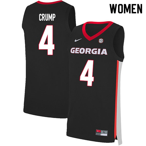 2020 Women #4 Tyree Crump Georgia Bulldogs College Basketball Jerseys Sale-Black
