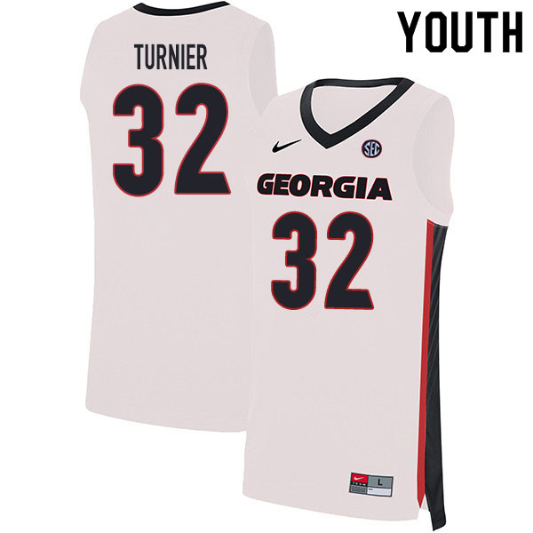 2020 Youth #32 Stan Turnier Georgia Bulldogs College Basketball Jerseys Sale-White