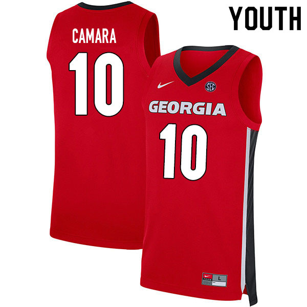 2020 Youth #10 Toumani Camara Georgia Bulldogs College Basketball Jerseys Sale-Red